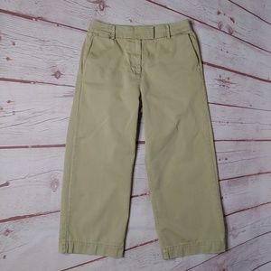 J. Crew Tan Chino Crop/Ankle Pants 6P Flat Front